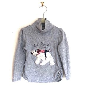 Gaudi Teen St Moritz Studded Polar Bear Turtleneck